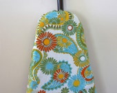 Ironing Board Cover - pretty paisley in pastel blue, green, yellow and orange