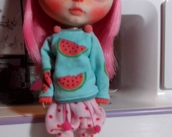 Watermelon sweater for blythe