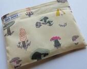 Reusable Sandwich Bag Reusable Snack Bag Mushroom Toadstool Eco Friendly Snack Sandwich Bag