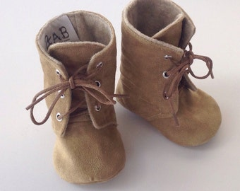 Tan Baby Combat Boots | 12-18 Month size |  Free Shipping in the US