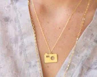 Camera necklace, urban necklace, fashion jewelry