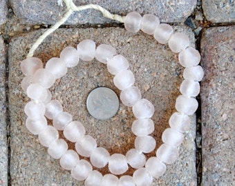 Ghana Glass Beads: Pink 13mm