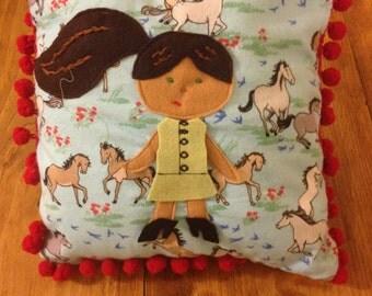 Dress Up Doll Pillow