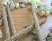 Temple Blend - Cedar, Sage and Frankincense - All Natural Hand Rolled Incense Sticks - Bag of 6 or 12