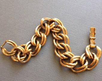Curb Link Bracelet Gold Double Link Chain Avon