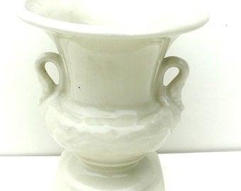 Celadon Green Crackle Glaze Classic Urn Shaped Vase With Metal Frog Inside Signed V #3111