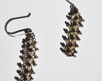 Vintage Silver Filagree Dangle  Earrings