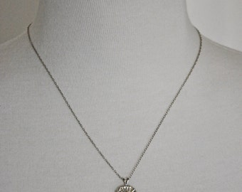 Vintage Sand Dollar Sterling Silver Necklace