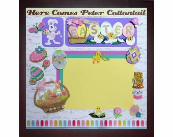 EASTER FUN Pre-made Memory Album Page (Gallery Wood Frame Sold Separately)