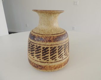 Large Pottery Craft Vase mid century Los Angeles Southern California
