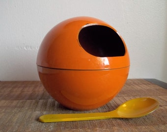 Vintage Orange Orb Nut Bowl