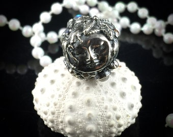 Fine Silver Made to Order Large Mermaid Fairy Bead Big Hole Bead for European Bracelets