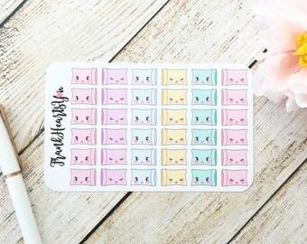 Mini Sheet - Kawaii Mini Pastel Pillow Planner Stickers