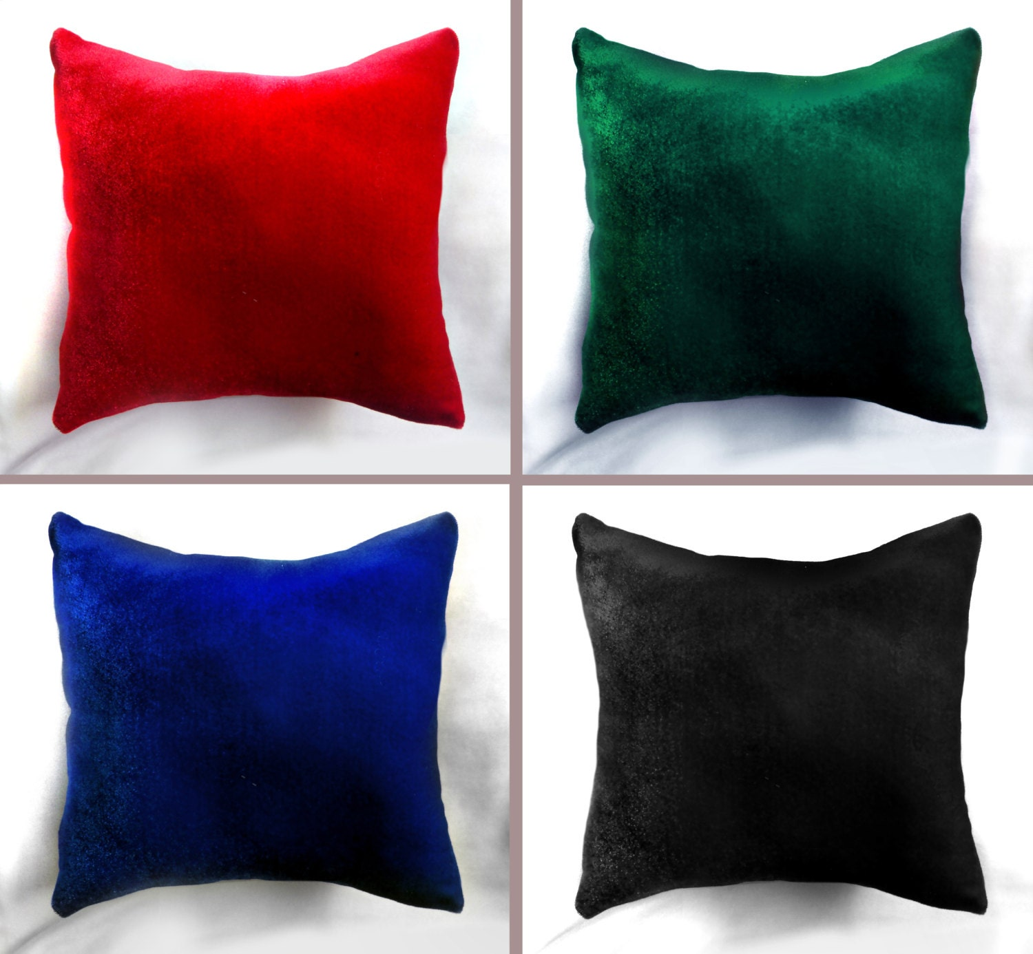 Throw Pillows Velvet : Velvet Pillow 12x12. Decorative Throw Pillow New