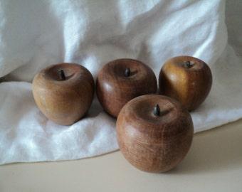 4 Wood Apples Lot
