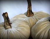 D.I.Y. Velvet Pumpkin Kit - Set of Three -  Khaki