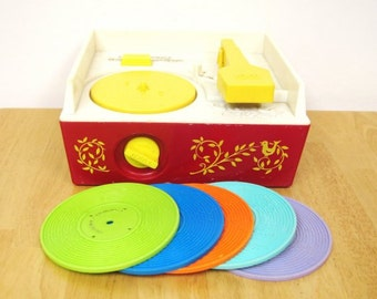 SALE! Vintage Fisher Price Record Player - Complete