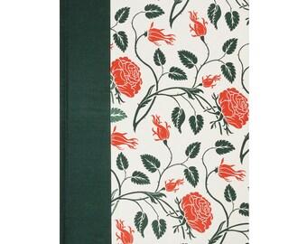 Address Book Large Letterpress Wild Rose