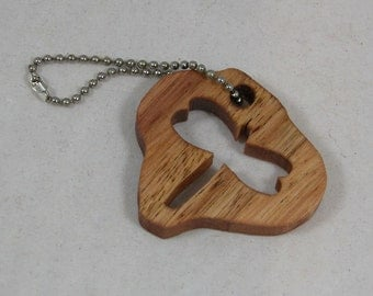 Dragonfly Cutout - Key Chain - Small Dragonfly Key Ring - Small Key Holder