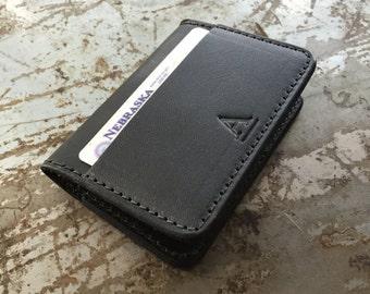 Card Wallet in Wickett & Craig Black Harness Leather