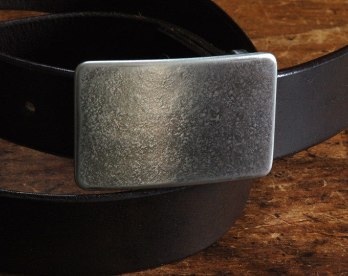 """Handcrafted Silver Suit Belt Buckle HYPOALLERGENIC Stainless Steel Accessories Unisex Belt Buckle Signed Original Fits 1-1/4"""" Belt AVAILABLE"""