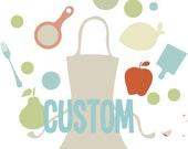 Rustic Linen Aprons  Custom