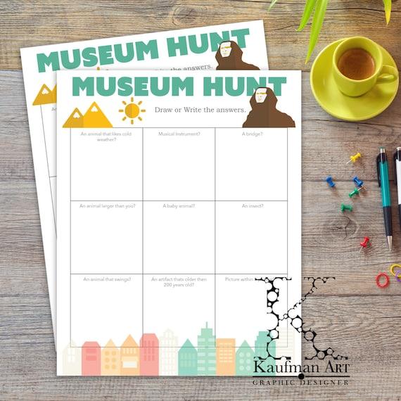 3 different museum scavenger hunt kids summer fun instant. Black Bedroom Furniture Sets. Home Design Ideas