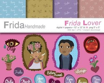 Frida Lover (digital papers) download