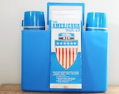Vintage Thermos Americana Sports Kit 1974 King Seeley Picnic Travel Case Mint No 252