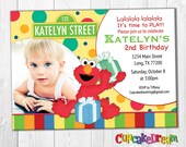 Elmo Invitation, Sesame Street Birthday