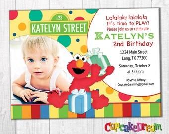Elmo Invitation, Sesame Street Birthday