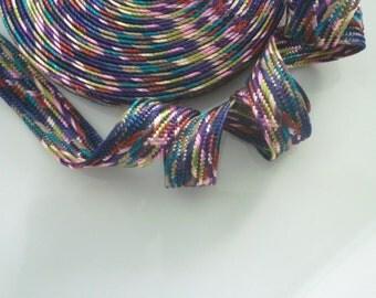 Moroccan art silk trim, multicoloured, woven , medium,  5 metres