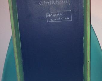 Green Wood Crate Chalkboard