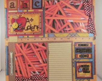 A+ STUDENT 12x12 Premade Scrapbook Page School