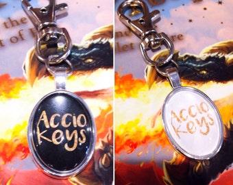 Accio Keys Harry Potter Keyring Accio Keychain Bookish Keyring Gift Idea Harry Potter Gift