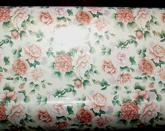 """French New Old Stock, Department Store Wrapping Paper ~ """"Rose Dreams"""" designed by Hazel Le Plonoeon for Familyline Inc. ~ approx. 55 yards"""