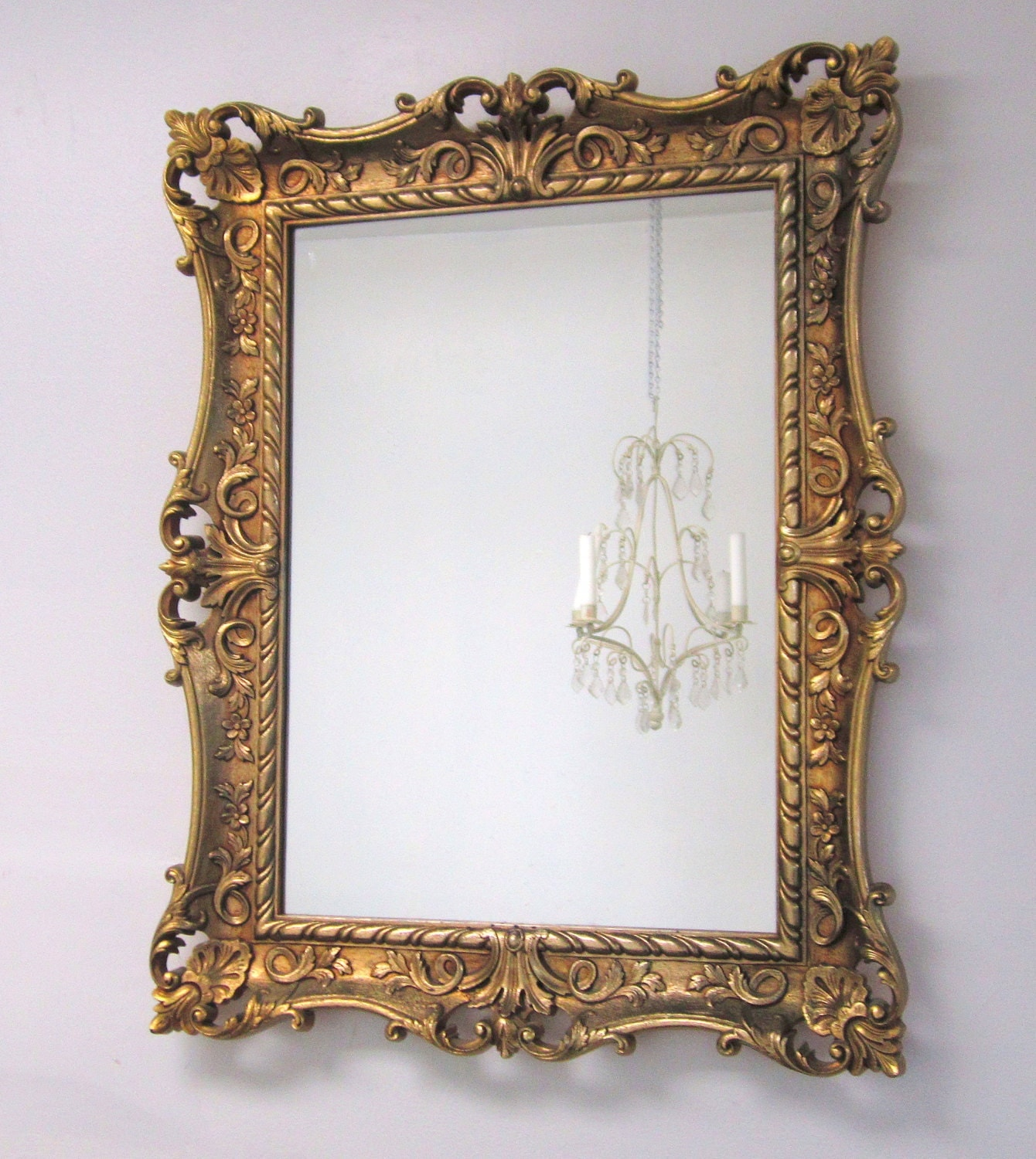 Decorative vintage mirrors for sale 28x22 baroque for Fancy mirrors for bedrooms