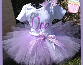 First Birthday Tutu Outfit,  First Birthday, 2nd Birthday, 1st Birthday, One Birthday, Two Birthday, Three Birthday,