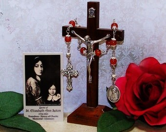 Unbreakable Catholic Relic Chaplet of St. Elizabeth Ann Seton - Patron Saint of Widows and Against In-Law Problems and Loss of Family