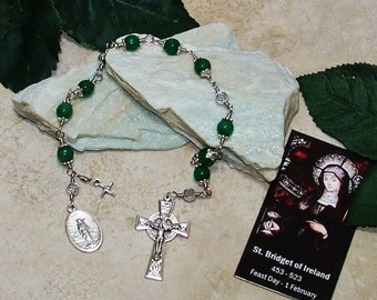 Unbreakable Chaplet of St. Bridget of Ireland - Patron Saint of Infants, Midwives, Ireland, Sailors and Poultry & Dairy Farmers
