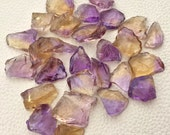 VERY Rare 20-25mm Long, 15 Larger Size Pieces,Brand New, Amazing Natural AMETRINE Hammered Rock Loose Pieces