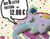 Special Deal -  Buy 6 crochet letter pattern, PDF in English, Deutsch