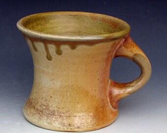 WOODFIRED CERAMIC MUG #37 - Woodfired Coffee Mug - Woodfired Pottery - Stoneware Mug - Ceramic Coffee Mug