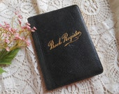 Pocket Ledger Book Register Reading Log Record Vintage at Quilted Nest