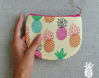 Zippered Coin Purse {Pineapples} Be Organized