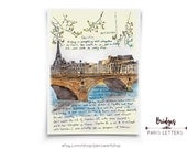 Bridges: Paris Letters, April, Art that was the cover of the book called PARIS LETTERS