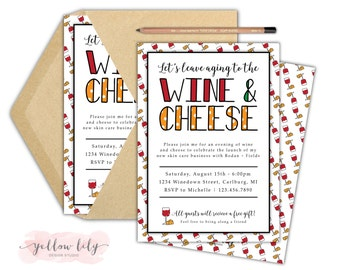 Rodan + Fields Invitation- Rodan + Fields / Big Business Launch / Wine and Cheese Night / Girls Night / Rodan and Fields Business Launch