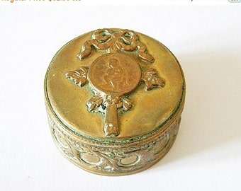 SALE 20% Antique box small trinket box
