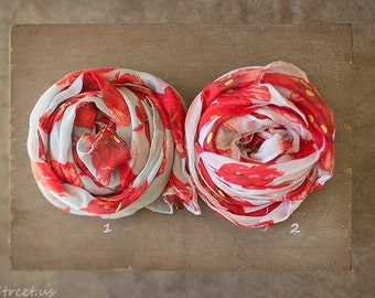Gauze Floral Wrap, Aqua and Red, White Wrap, Baby Wrap, Big Wrap, Poppy Vintage Wrap, Baby Girl Prop, Newborn Props, RTS, Pink, Baby Props