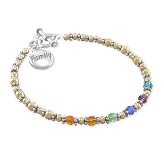 Mother S Day Gifts Mothers Bracelet Nana Birthstone
